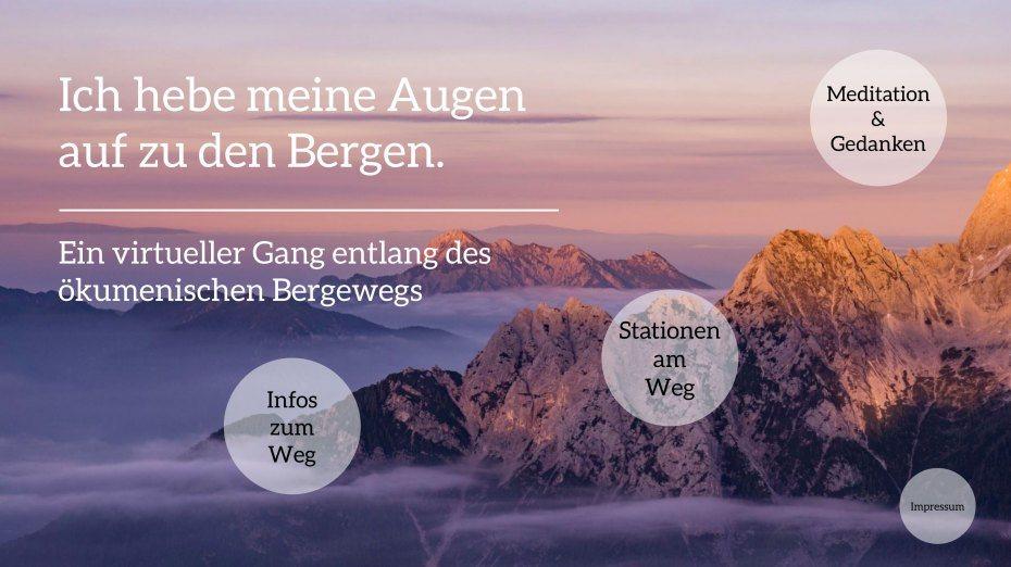 Präsentation des Bergweges auf prezi.com